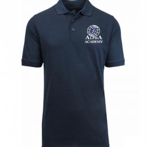 Children's Navy Alpha Polo - Short Sleeve