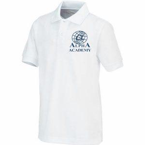 Children's -Navy White Polo - Short Sleeve